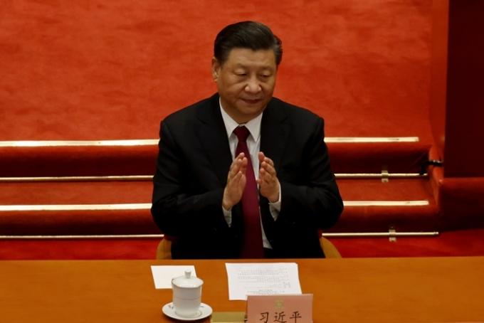 14일(현지시각) 주요 7개국(G7) 회의 후 발표된 공동성명에 대해 영국 주재 중국대사관이 내정간섭이라며 강력 반발했다. 사진은 지난 3월10일 시진핑 중국 국가주석이 베이징에서 열린 중국 인민정치협상회의(CPPCC) 최종 세션에 참석한 모습. /사진=로이터