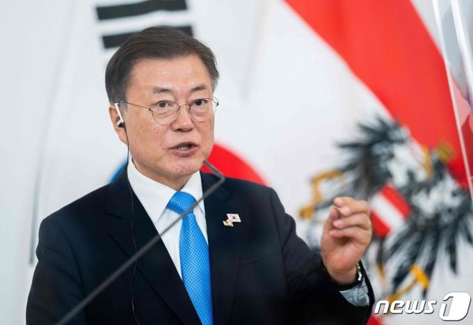 문재인 대통령. 2021.6.14 © AFP=뉴스1