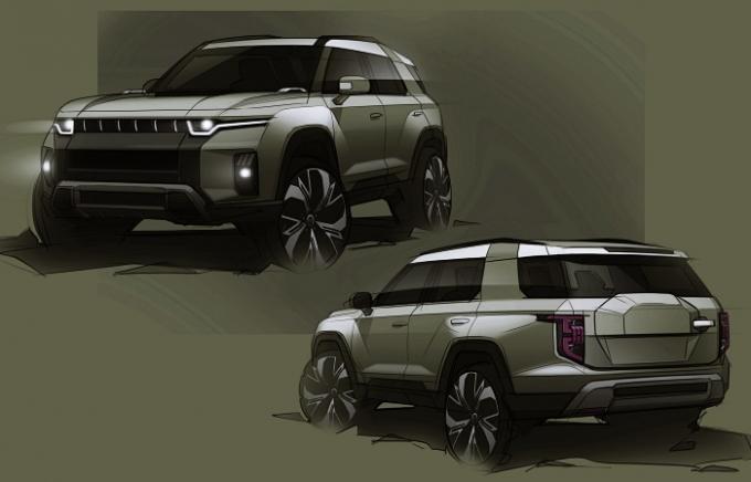 2022년 출시를 목표로 개발하는 중형 SUV 'J100' (프로젝트명)도 있다. /사진제공=쌍용차