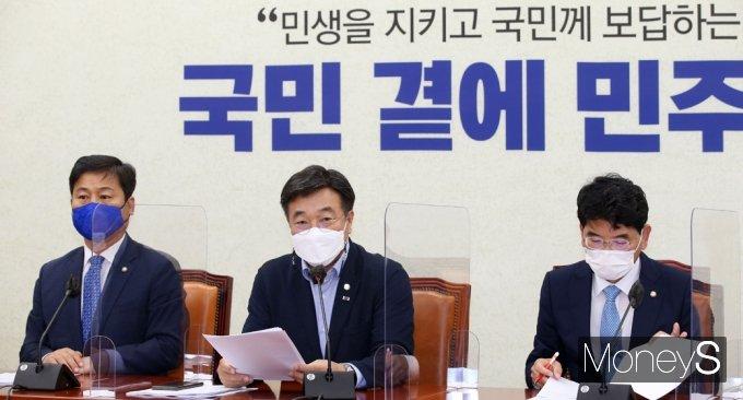 """[머니S포토] 윤호중 """"대체공휴일법 6월 신속 처리…사라진 빨간날 돌려드릴 것"""""""
