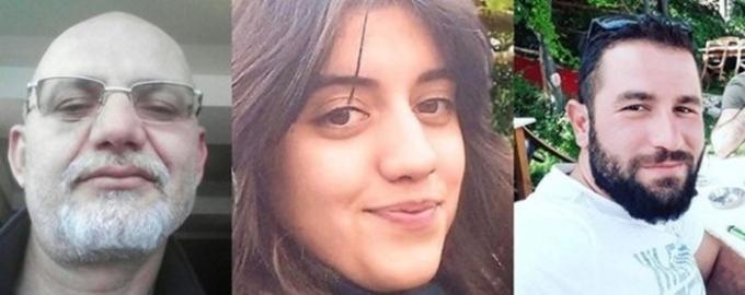영국 데일리스타는 지난 12일(현지시각) 터키에서 한 아버지가 자신의 반대를 무릅쓰고 결혼한 딸에게 총을 난사한 사고를 보도했다. 사진은 왼쪽부터 아버지 알판 아크카오즈, 딸 카디예 텡기즈, 그녀의 남편인 오이툰 사파 텡기즈의 모습. /사진=뉴스1(뉴스플래시)