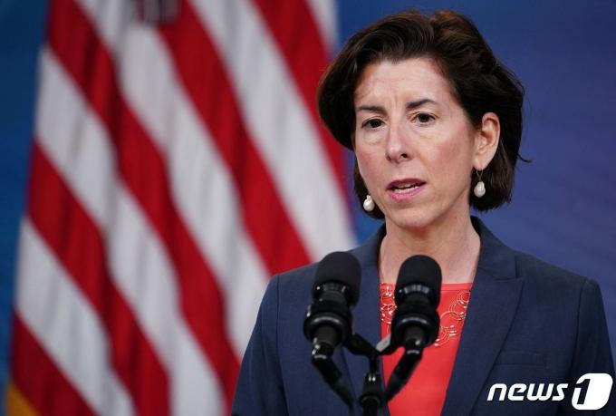 지나  레이몬도 미국 상무장관 . © AFP=뉴스1