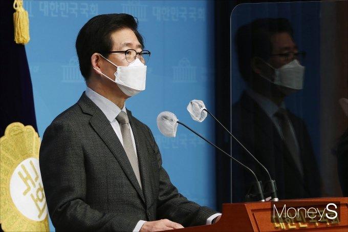[머니S포토] 기자회견 갖는 양승조 충남도지사