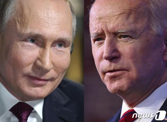 블라디미르 푸틴(왼) 러시아 대통령과 조 바이든 미국 대통령. © AFP=뉴스1 자료 사진
