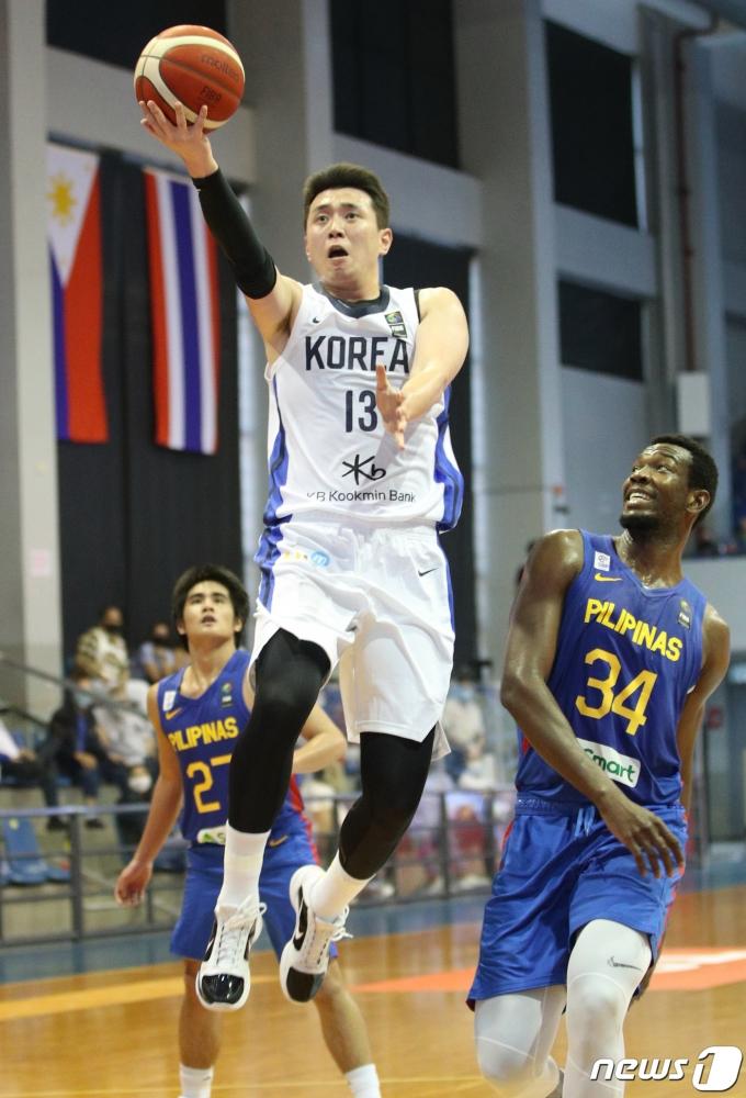 [사진] 2021 FIBA 아시아컵, 레이업슛하는 강상재