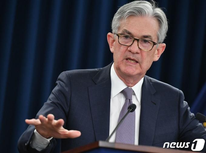 FOMC를 마치고 기자회견을 하고 있는 파월 연준 의장  © AFP=뉴스1