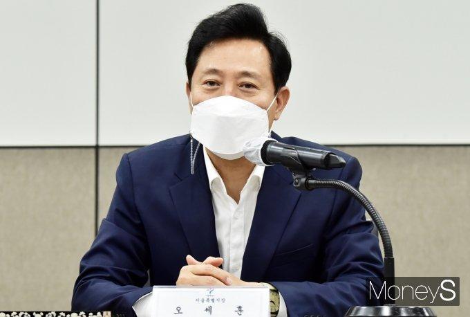 [머니S포토] 청렴사회구현 업무협약 앞서 인사말 전하는 오세훈 시장