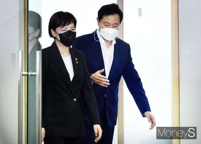 [머니S포토] 서울시 오세훈·권익위 전현희, '청렴 사회구현' 위해 양 기관 협력