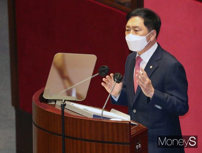 [머니S포토] 교섭단체 대표연설 하는 김기현 원내대표