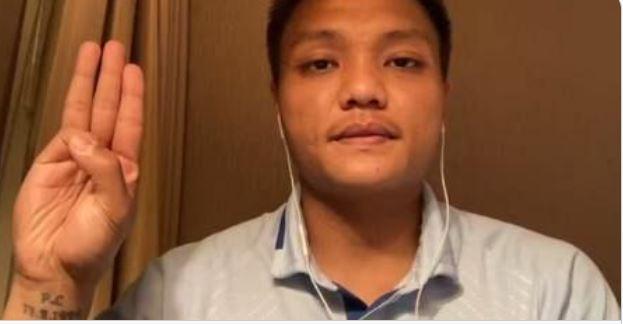 미얀마 축구대표팀 후보 골키퍼 피 리앤 아웅이 일본에 망명을 신청했다. /사진=트위터 캡처