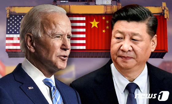 조 바이든(왼) 미국 대통령과 시진핑 중국 국가주석. © News1 최수아 디자이너