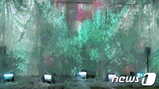 송주형 설치작업 '류'© 뉴스1