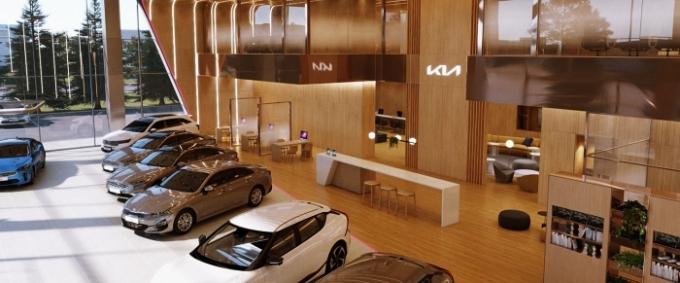 기아가 새로운 브랜드 전략이 반영된 판매 거점 '기아 스토어'의 디자인 표준을 공개했다. 이와 함께 올 3분기 중 디자인 표준이 적용된 기아 브랜드 체험 공간 'Kia 360'(구 Beat 360)을 선보이고 앞으로 정비 거점 등에도 디자인 표준을 적용할 계획이다. /사진제공=기아