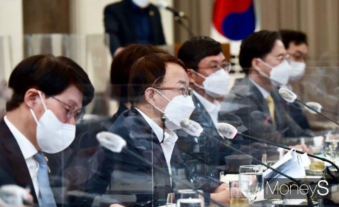 [머니S포토] 김용기 일자리 부위원장의 모두발언