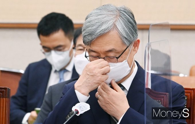 [머니S포토] 국회 법사위 출석한 최재형 감사원장