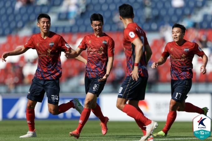 김천 상무 선수단(한국프로축구연맹 제공)© 뉴스1