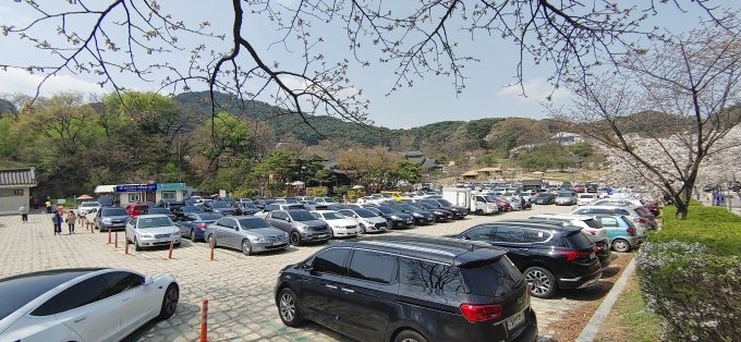 만차된 남한산성 주차장. / 사진제공=경기도