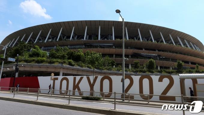 도쿄 올림픽 주경기장 전경. © 로이터=뉴스1 © News1 정윤영 기자