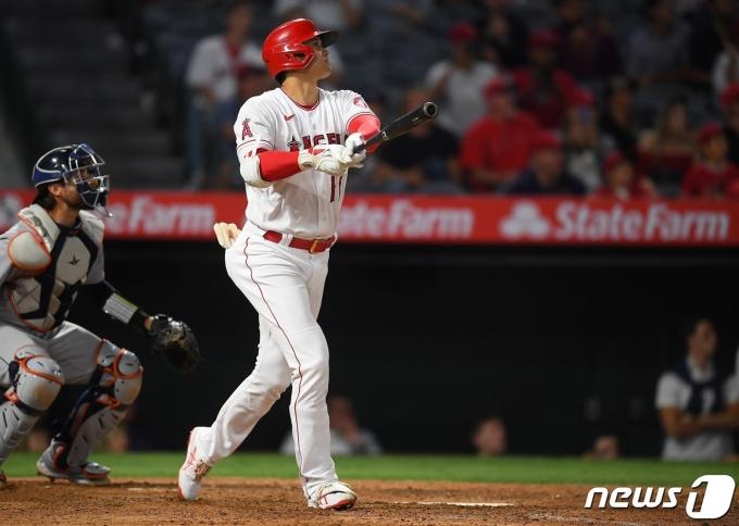 오타니 쇼헤이가 시즌 22호 홈런을 터뜨렸다. © AFP=뉴스1