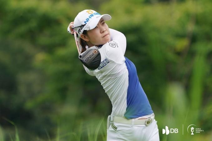 한국여자오픈 우승을 차지한 박민지. (DB그룹 제35회 한국여자오픈 대회조직위 제공) © 뉴스1