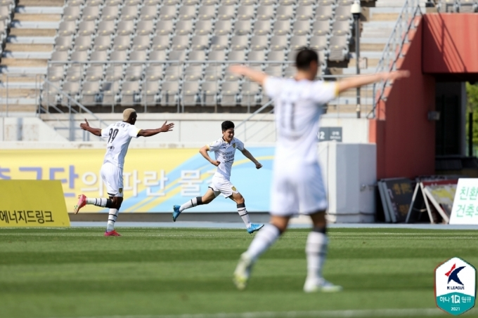 K리그2 결승골을 터트린 아코스터. (한국프로축구연맹 제공) © 뉴스1