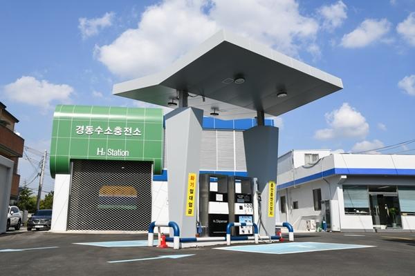 효성과 린데는  대형 상용 액화수소 충전소 구축에 협력하기로 했다. 울산 경동 수소충전소 이미지. /사진=효성