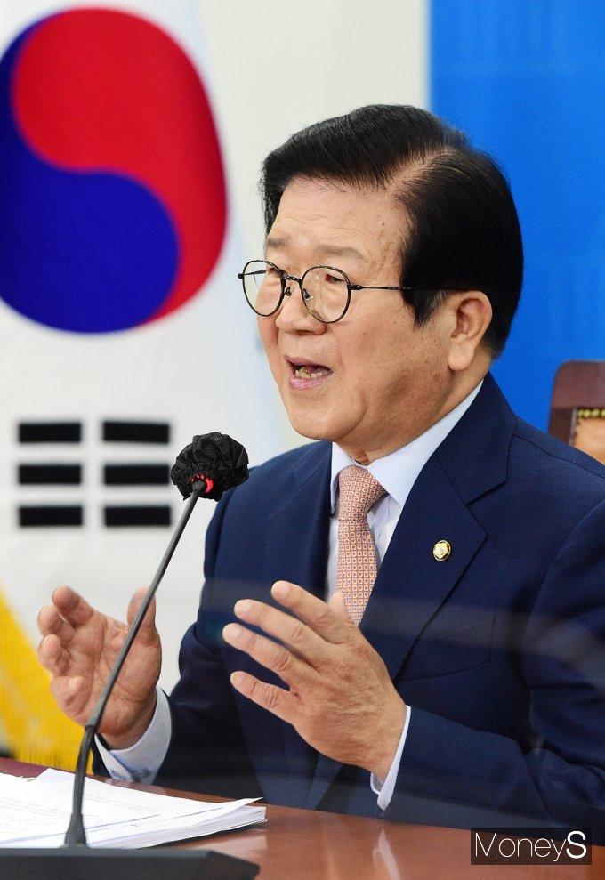 """[머니S포토] 박병석 """"여야 공석 국회 부의장 문제 포함, 상임위원장 배분 협상 하루 빨리 마무리해야"""""""
