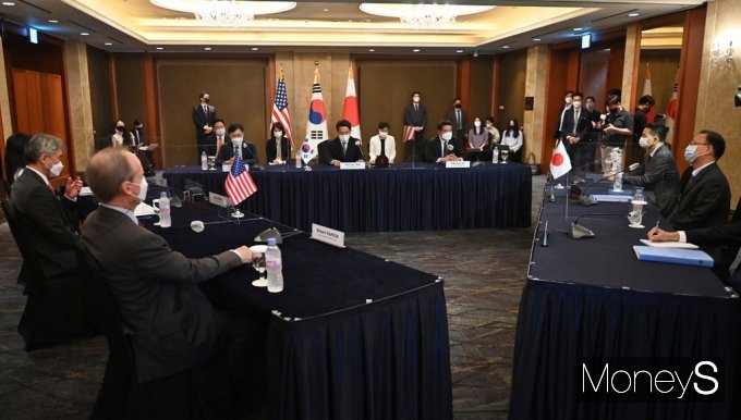[머니S포토] 한미일 북핵 논의