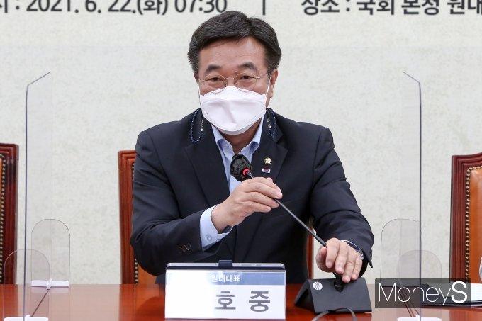 """[머니S포토] 윤호중 """"온라인 플랫폼과 중소상공인 상생방안 마련중"""""""
