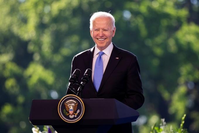 조 바이든 미국 대통령(사진)이 지난 21일(현지시각) 대북제재 행정명령을 1년 더 연장하기로 결정했다. /사진=로이터