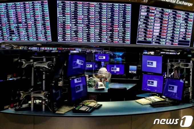 뉴욕증권거래소 내부 객장© 로이터=뉴스1