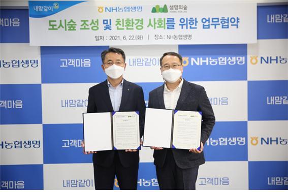NH농협생명이 서울 홍은사거리에 도시숲을 조성한다./사진=NH농협생명