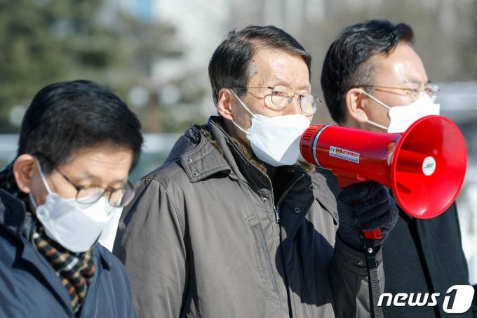 김태훈 한반도 인권과 통일을 위한 변호사모임(한변) 회장2021.2.4/뉴스1 © News1 안은나 기자