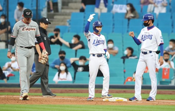 한화 이글스는 23일 KBO리그 삼성 라이온즈전에서 0-3으로 졌다.(삼성 라이온즈 제공) © 뉴스1