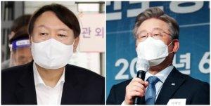 '대선주자 선호도' 윤석열 32.3%·이재명 22.8%
