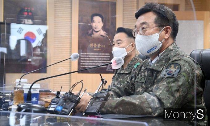 [머니S포토] 민주당 군 백신 접종현황 점검, 발언하는 윤호중 원내대표