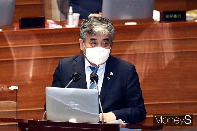 [머니S포토] 대정부질문 답변하는 한상혁 위원장