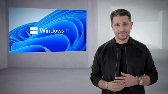 파노스 파네이 MS CPO가 윈도11을 소개하는 모습. /사진제공=한국MS