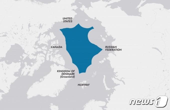 중앙 북극해 지도 (외교부 제공) © 뉴스1