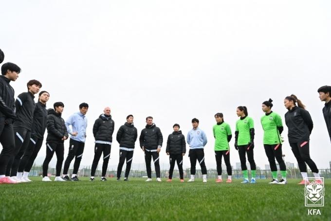 한국 여자축구대표팀. (대한축구협회 제공) © 뉴스1