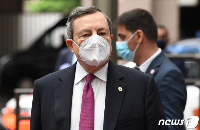 마리오 드라기 이탈리아 총리. © AFP=뉴스1