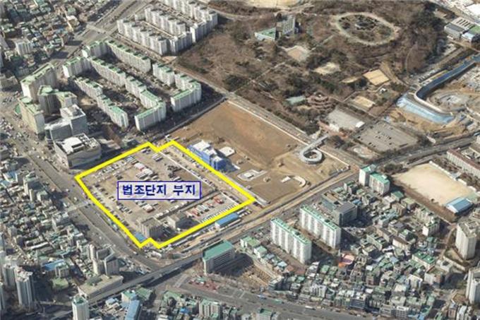 수정구 신흥동 2460-1번지 일원(옛 제 1공단 터) 법조단지 조성부지 위치도. / 사진제공=성남시