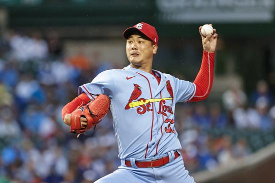MLB닷컴은 19일(이하 한국시각) 보도를 통해 김광현(세인트루이스 카디널스)이 오는 23일 시카고 컵스와의 홈경기에 선발 등판한다고 전했다. /사진=로이터