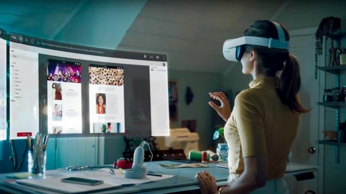 페이스북이 VR기기 오큘러스2 기반 베타서비스를 진행 중인 인피니트 오피스. /사진제공=페이스북