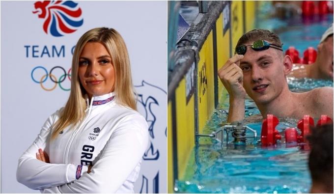 러시아 남자 수영 기대주 보로딘(오른쪽)과 영국 여자 사격 에이스 힐 등이 신종 코로나바이러스 감염증(코로나19) 확진 판정을 받아 출전할 수 없게 됐다. /사진=로이터, 인스타그램