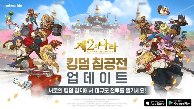 넷마블이 감성 모험 RPG '제2의 나라: Cross Worlds'에 '킹덤 침공전' 업데이트를 실시했다고 22일 밝혔다. /사진제공=넷마블