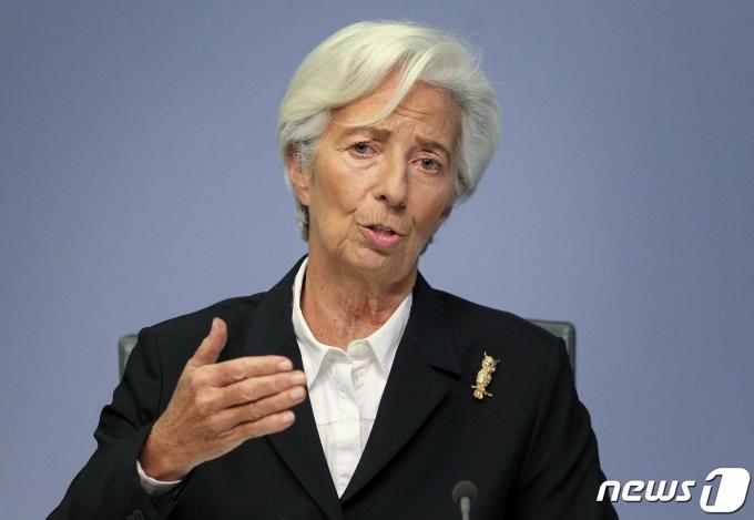 크리스틴 라가르드 유럽중앙은행 총재 © AFP=뉴스1