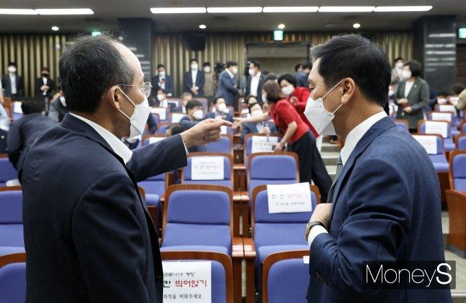 [머니S포토] 논의하는 김기현·추경호