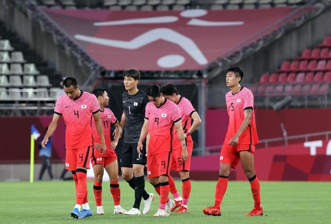 2020도쿄올림픽 남자 축구 대표팀이 지난 22일 뉴질랜드와의 B조 조별라운드 1차전에서 0-1로 패했다. /사진=뉴스1