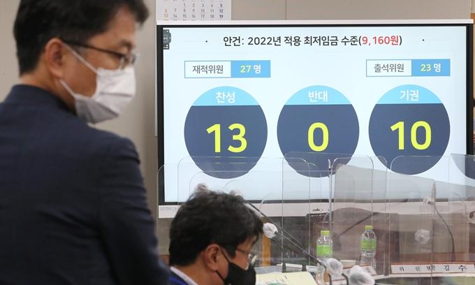 국민 46% '내년도 최저임금 9160원 적절'… 14% '더 올려'